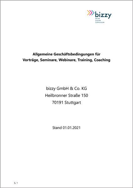 AGBs Vortraege Seminare Training