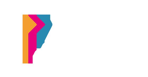 Logo bizzy transparent weisse Schrift